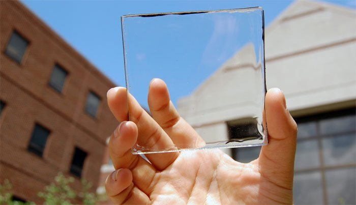 Transparent-solar-collectors