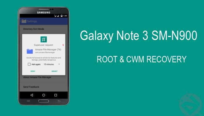 Root Galaxy Note 3 (SM-N900) on Android 5 0 Lollipop and