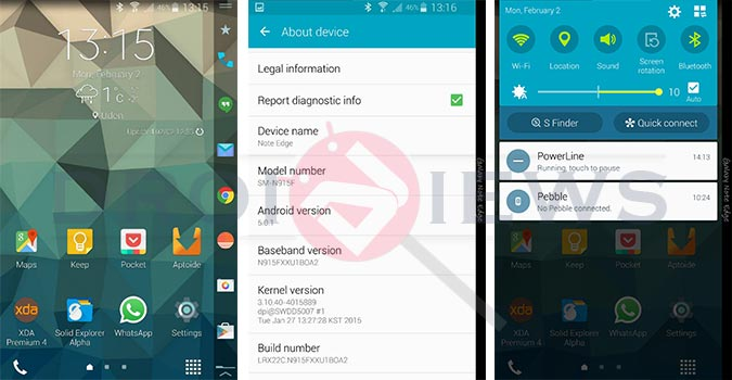 Get Android 5 0 1 Lollipop on Galaxy Note Edge N915F/FY