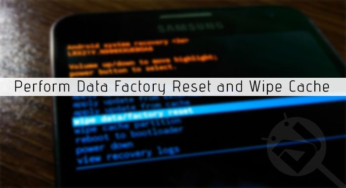 perform factory reset on samsung