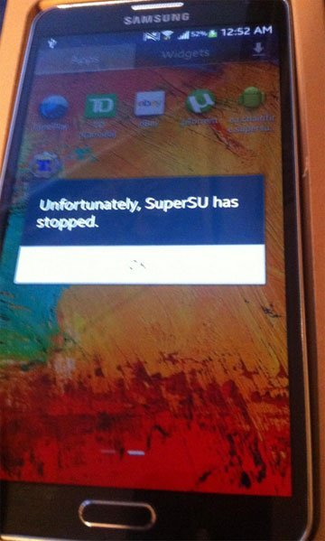 Unfortunately SuperSU has Stopped