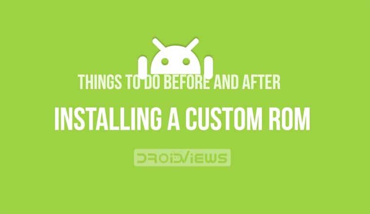 install custom rom android
