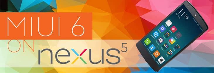 MIUI ROM on Google Nexus 5