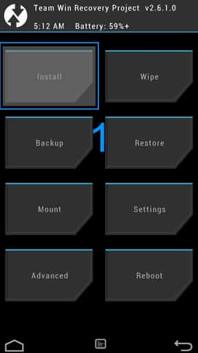 TWRP Install Step 1