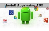 Install Apps on your Smartphone using ADB.