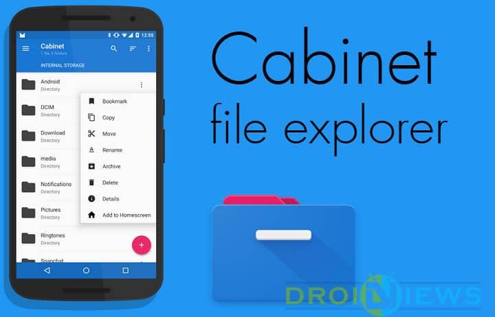 Cabinet file explorer