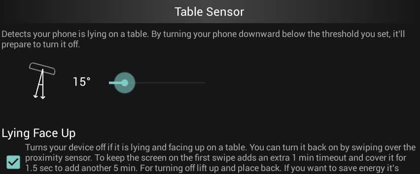 table sensor