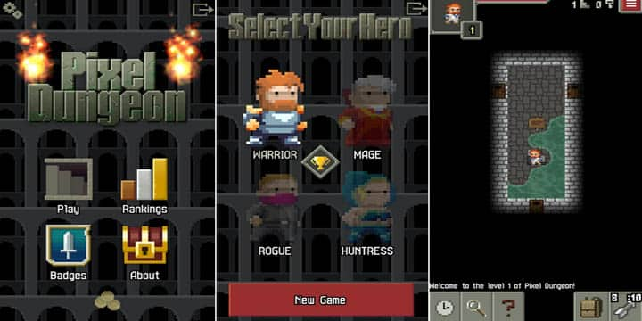 Pixel Dungeon 10 mb game