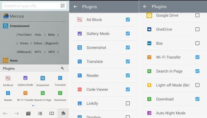 Mercury Browser-Plugins