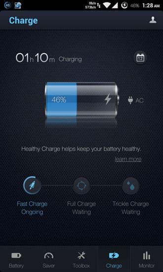 battery chraging level