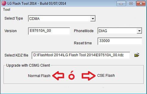 lg optimus g flash tool