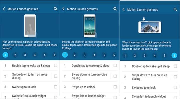 HTC Motion Launch Gesture App