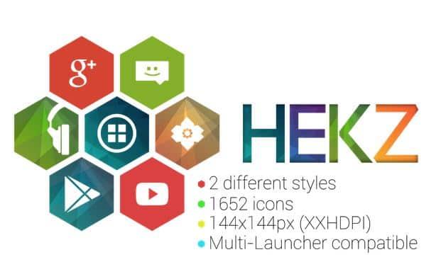flatt hexagon icon pack