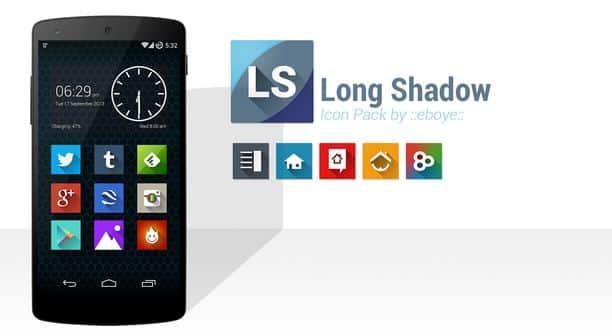 long shadow icons