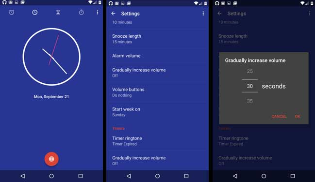 Google Clock App Update