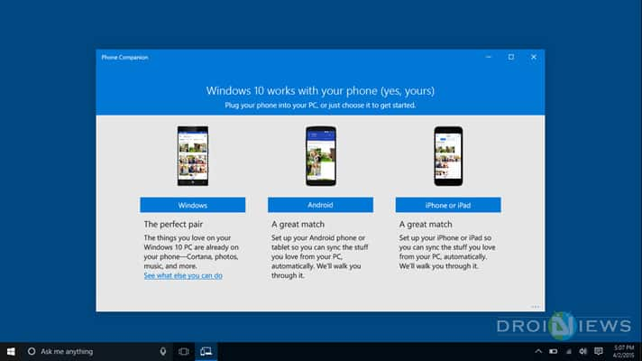 Sync Windows 10 PC with Android
