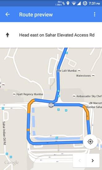 google maps navigation ui