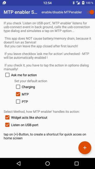 MTP enabler app