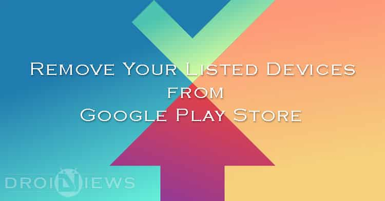how to remove account on play store