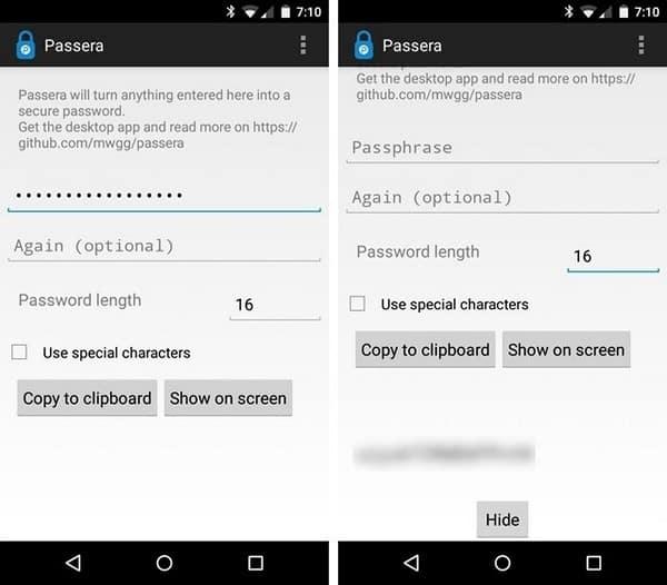 Passera password manager app