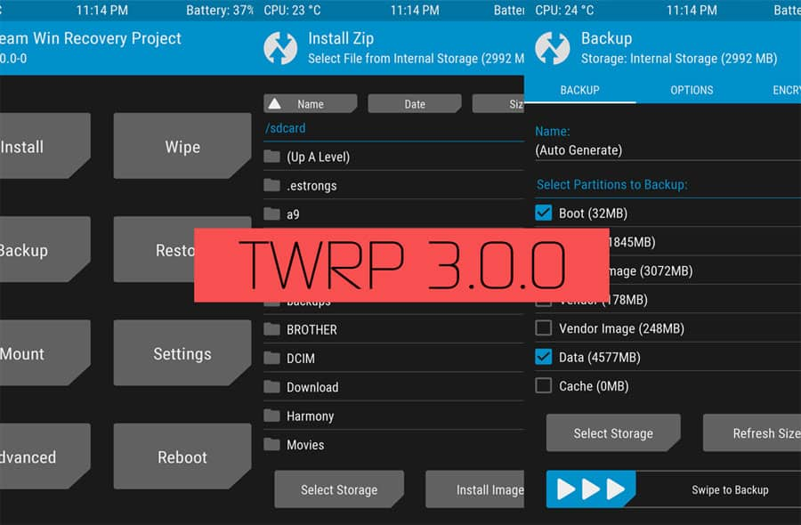 Flash TWRP 3.0