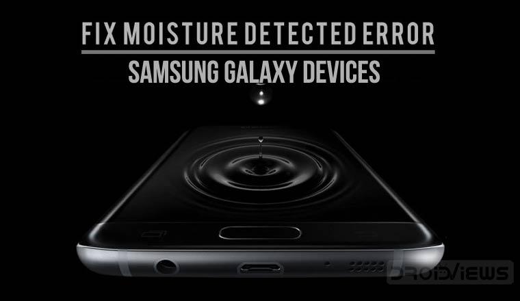 Moisture Detected Error on Samsung