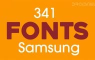 Fonts for Samsung Galaxy Devices
