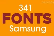 341 Fonts for Samsung Galaxy Devices