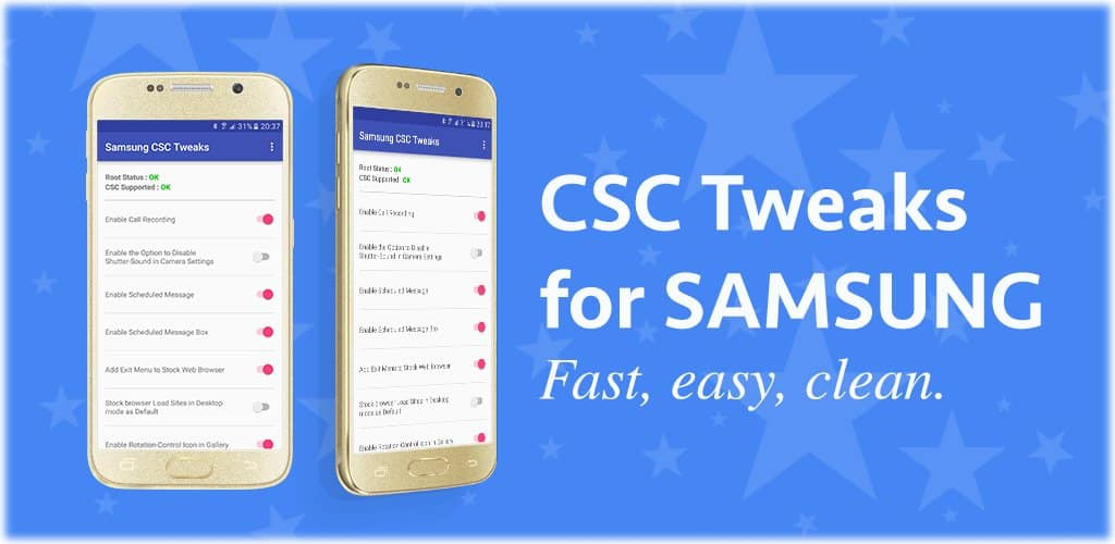 CSC tweaks for Samsung
