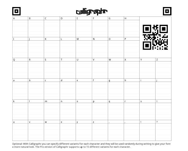 calligraphr print