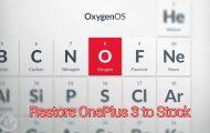 Restore OnePlus 3 to Stock