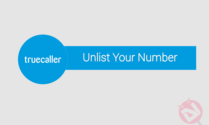 unlist your number truecaller