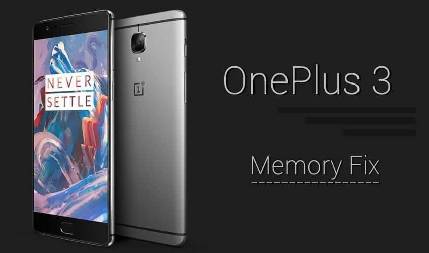 oneplus 3's memory management fix