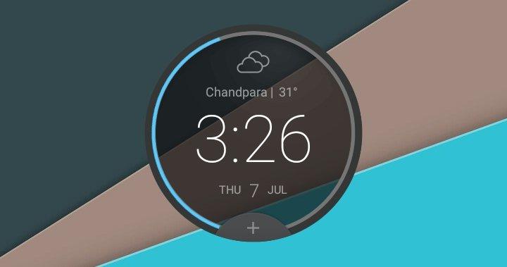 Circle Clock Widget - 2