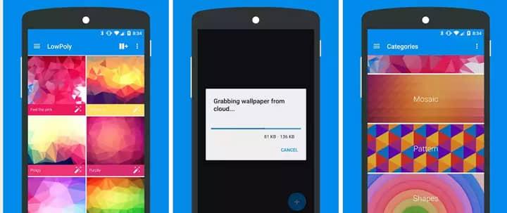 flat wallpapers app
