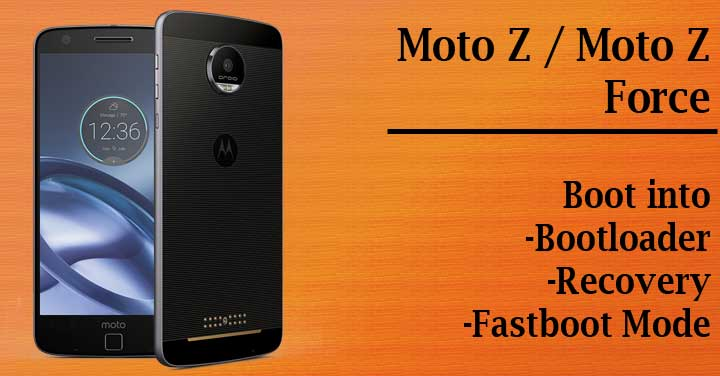Boot Moto Z into Bootloader