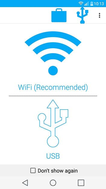 sync over wifi