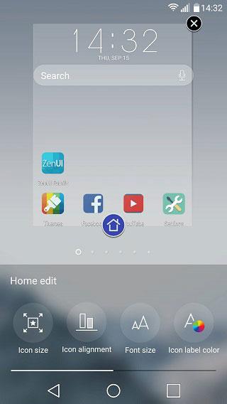 edit home screen ilauncher