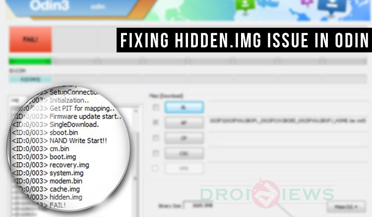 Fixing Odin Firmware Installation Failed at Hidden img Issue