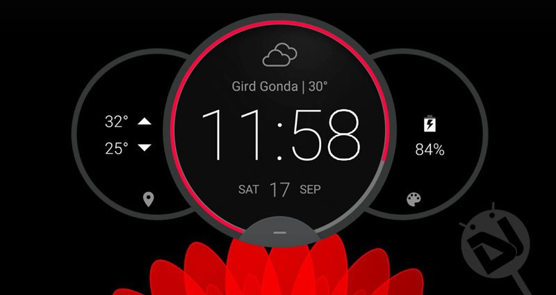 Install Moto Z Circle Clock Widget on Your Android Without