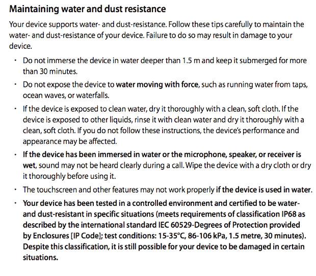 samsung-waterproof-precautions