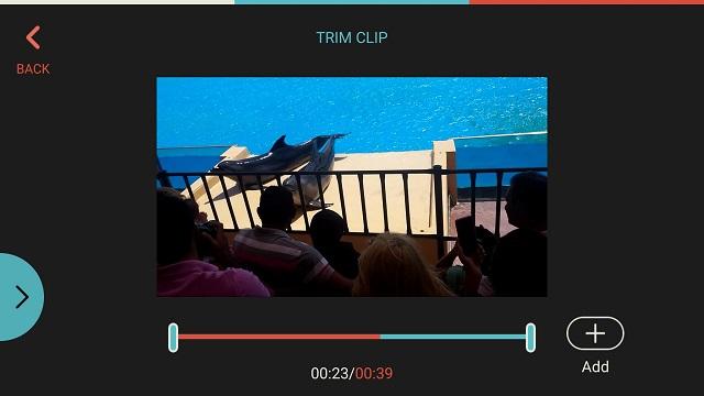FilmoraGo video triming
