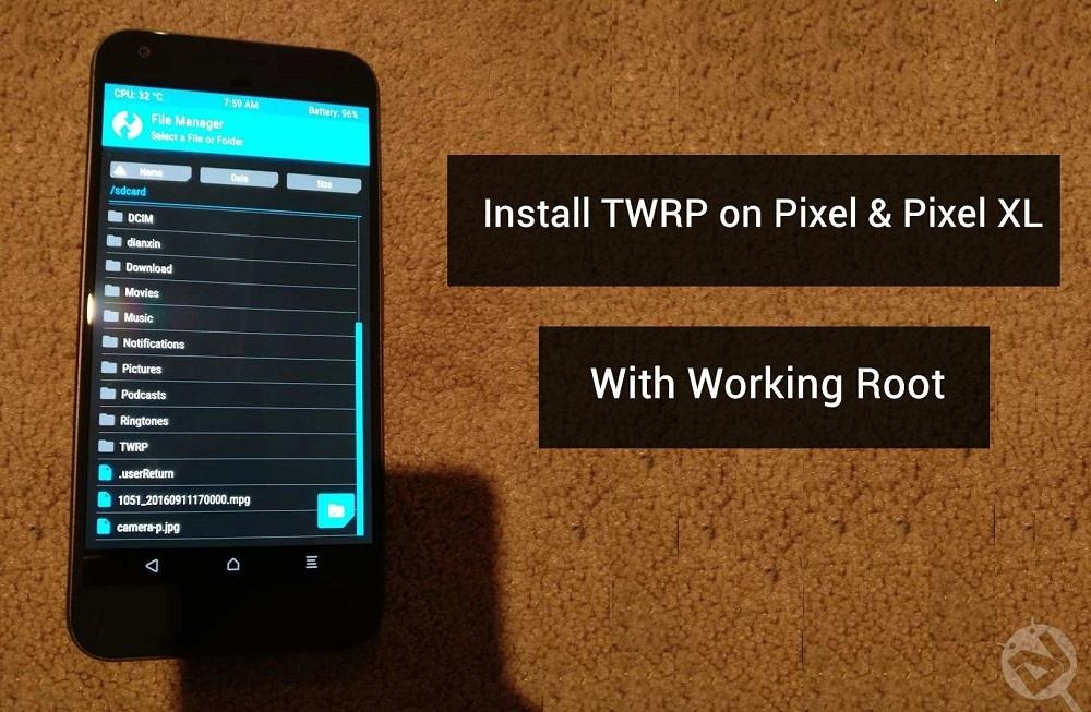 install twrp on Pixel