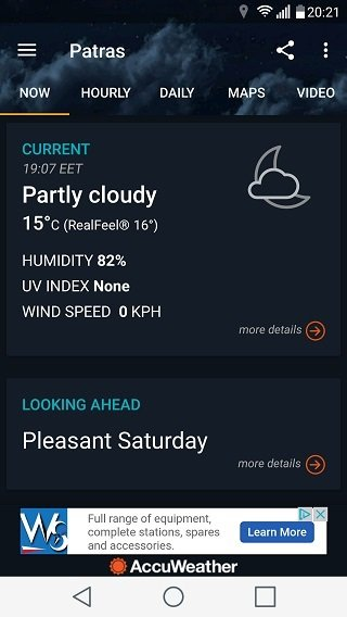 AccuWeather weather conditions