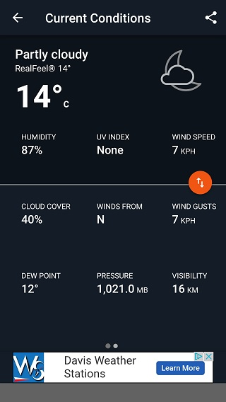 AccuWeather current weather