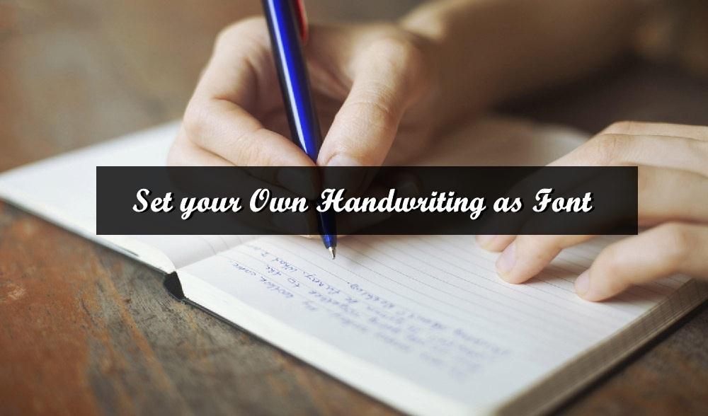 handwriting as font