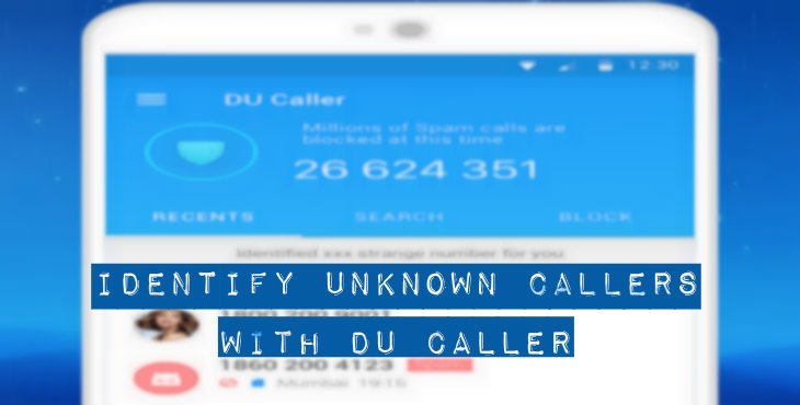 Identify Unknown Callers With DU Caller