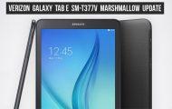 Marshmallow on Verizon Galaxy Tab E