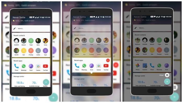 Customize Shelf OnePlus 3T