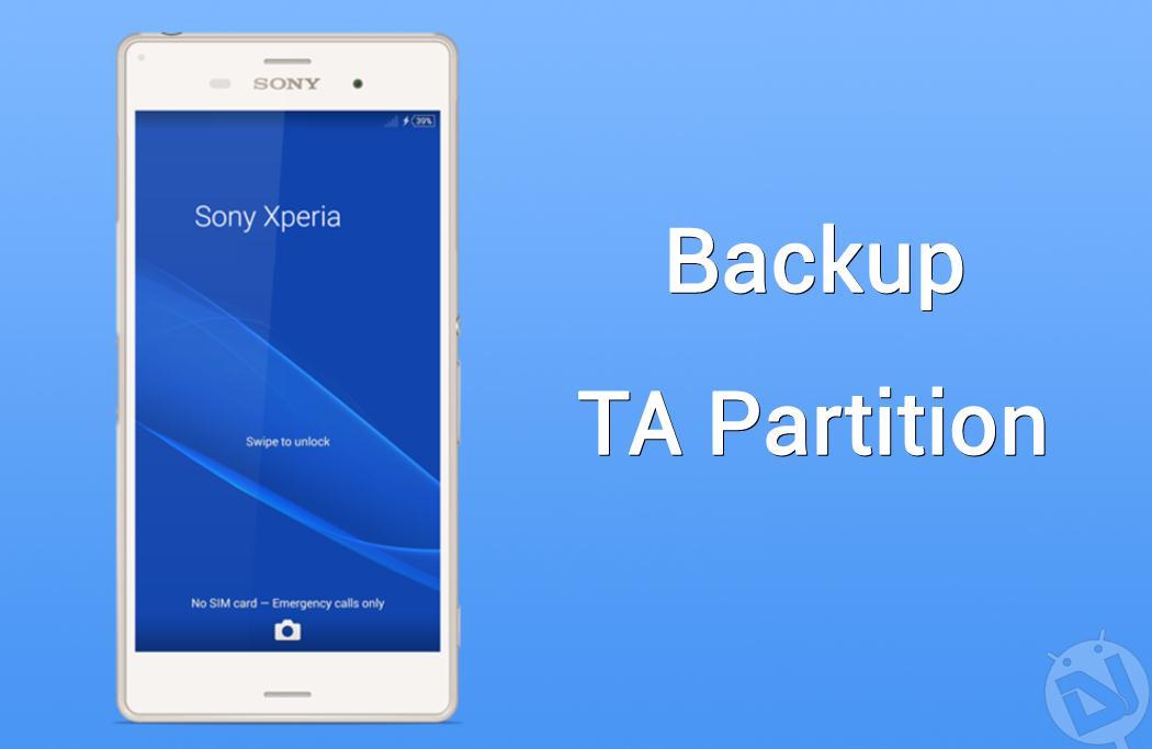 backup ta partition